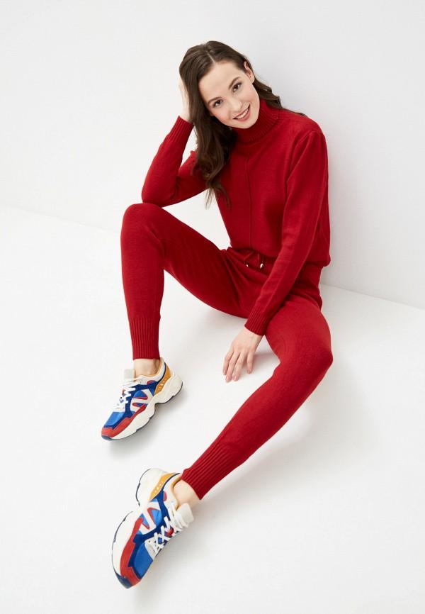 женский вязаные костюм imocean, красный