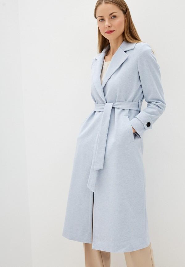 женское пальто imocean, голубое