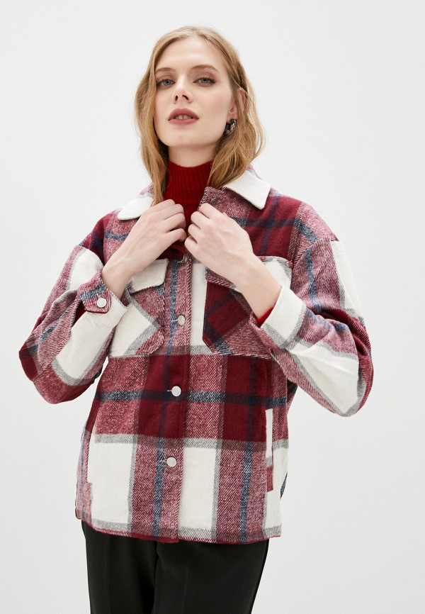 женская рубашка с длинным рукавом imocean, бордовая