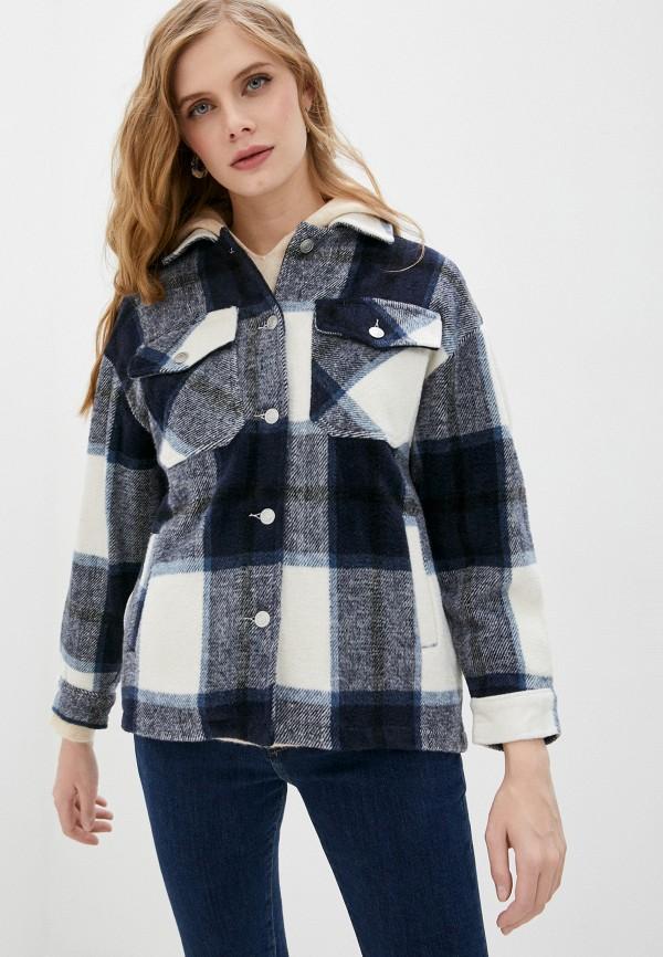 женская рубашка с длинным рукавом imocean, синяя