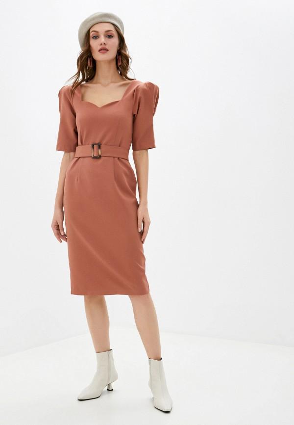 женское платье-футляр imocean, коричневое