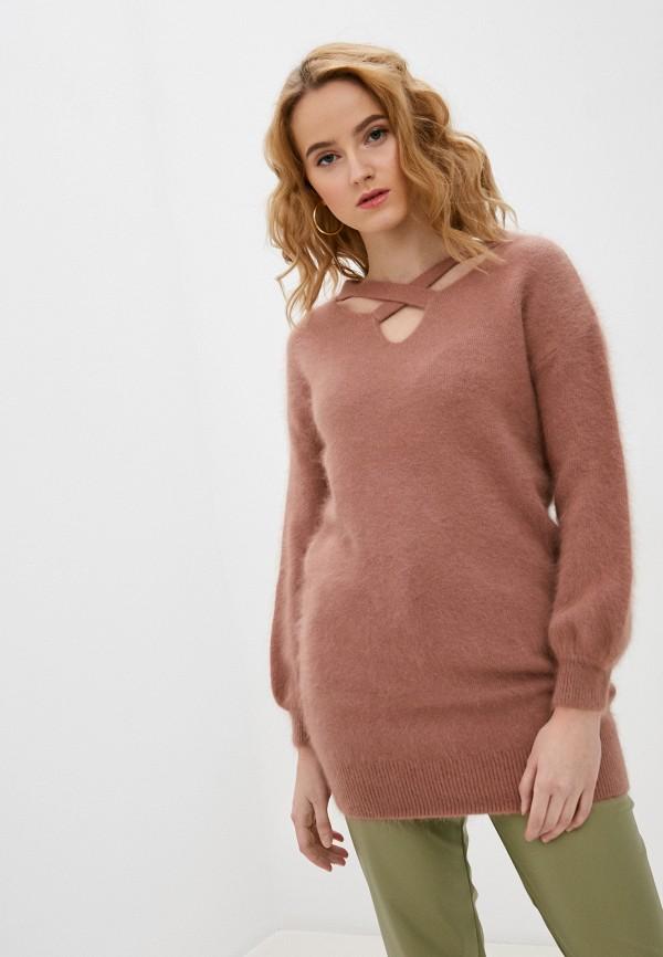 женский пуловер imocean, коричневый