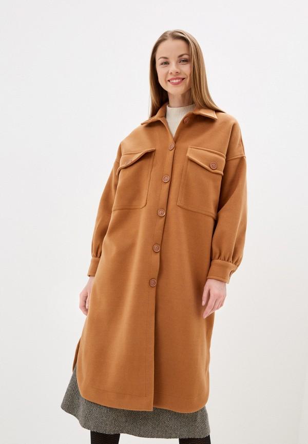 женское пальто imocean, коричневое