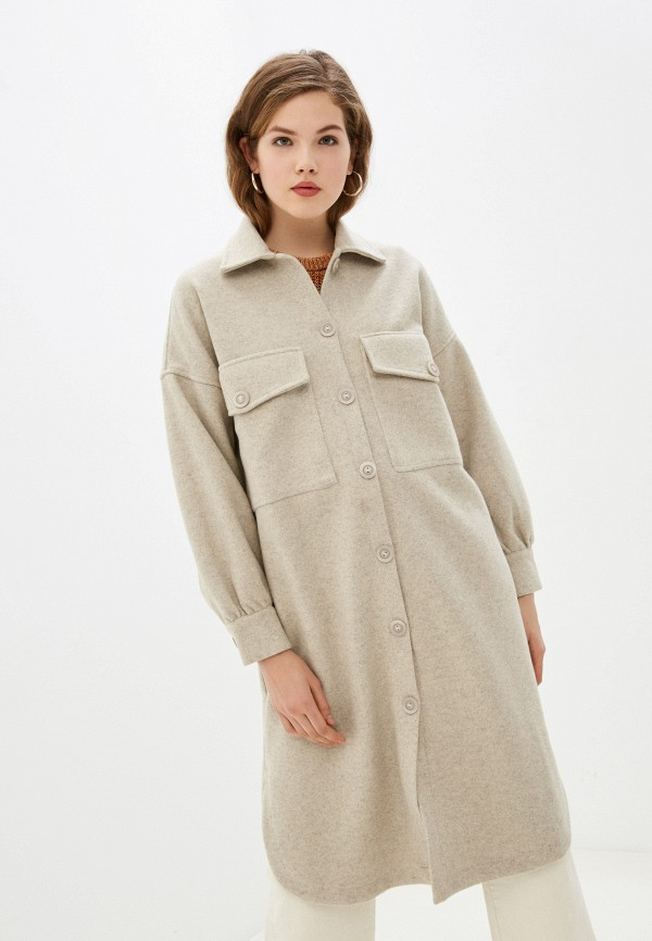 женское пальто imocean, бежевое