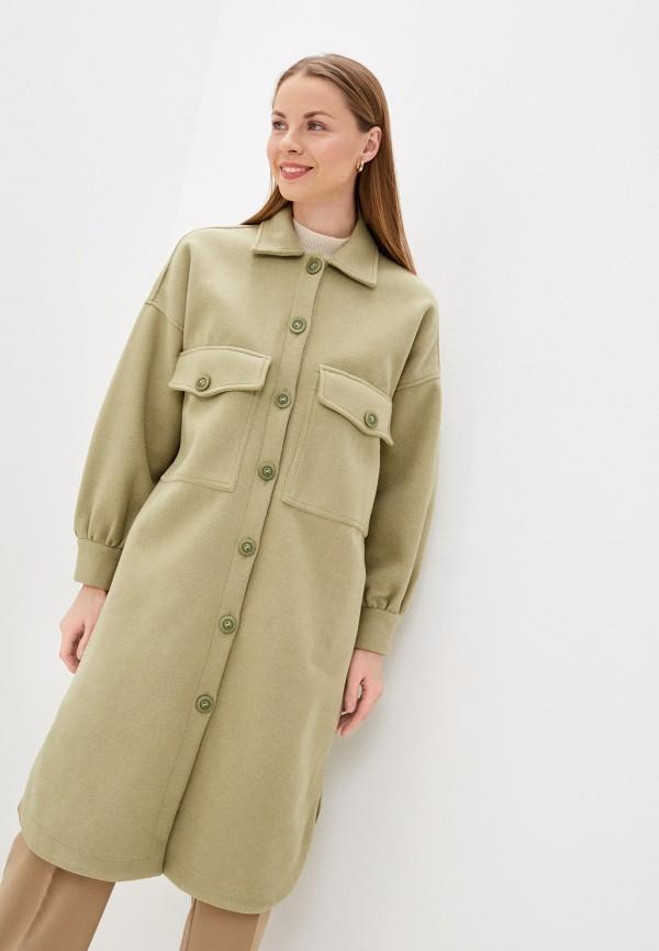 женское пальто imocean, зеленое