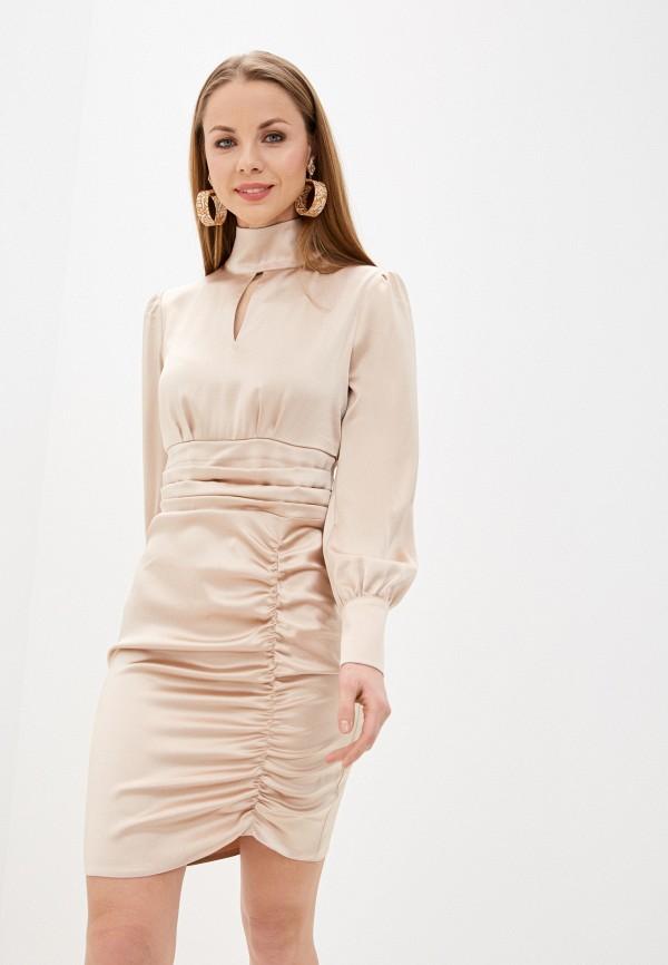 женское вечерние платье imocean, бежевое