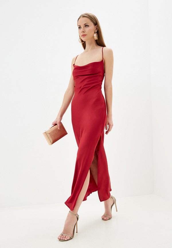 женское вечерние платье imocean, красное
