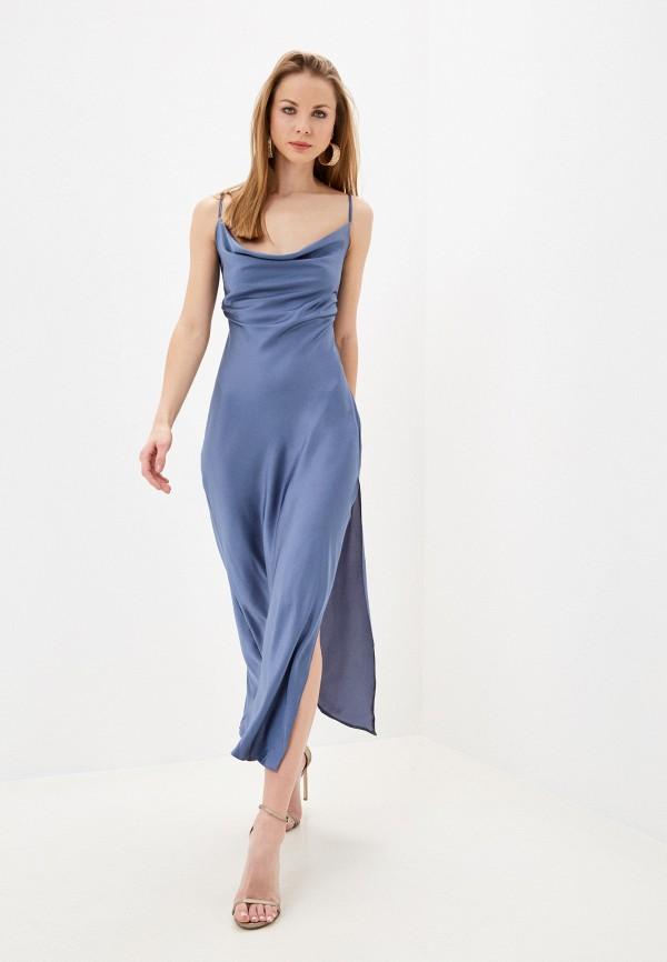 женское вечерние платье imocean, голубое