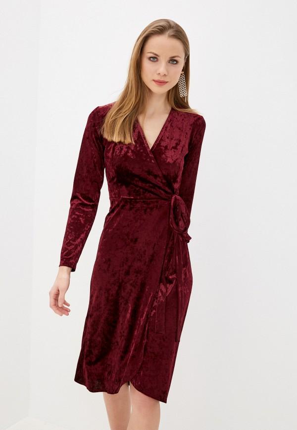 женское платье imocean, бордовое