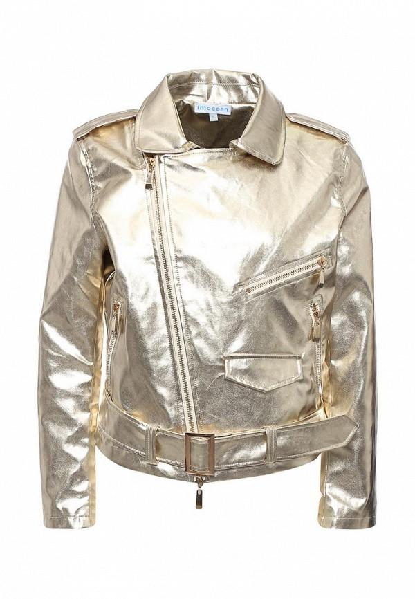 Куртка кожаная Imocean Imocean IM007EWSNN55 свитшот imocean imocean im007ewtkg69