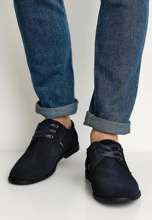 Фото 5 - мужские туфли Instreet синего цвета