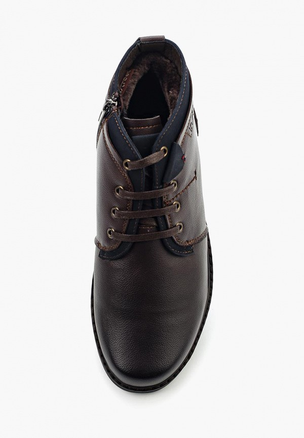 Фото 4 - мужские ботинки и полуботинки Instreet коричневого цвета