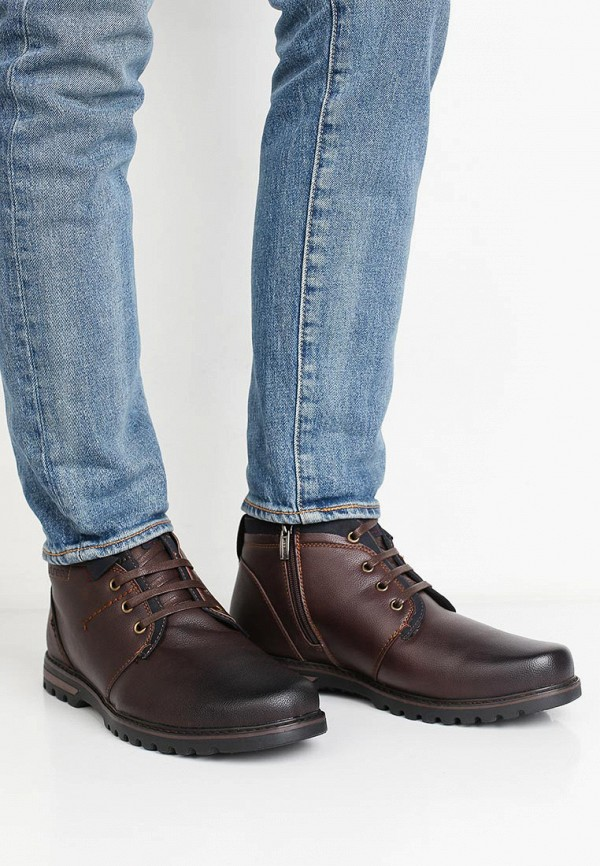 Фото 5 - мужские ботинки и полуботинки Instreet коричневого цвета