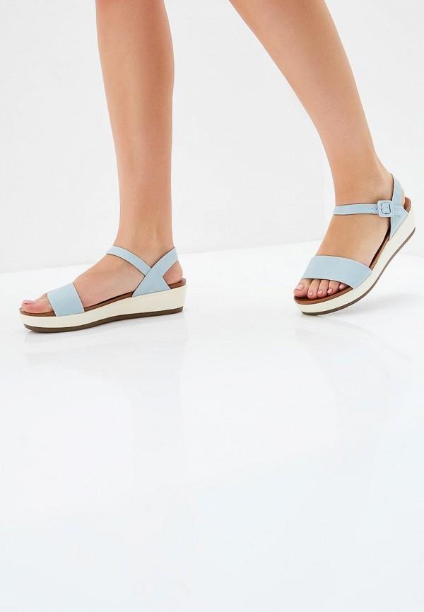 Фото 5 - женские сандали Instreet голубого цвета