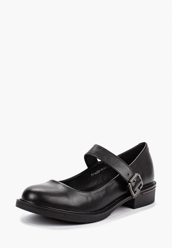 Фото 2 - женские туфли Instreet черного цвета