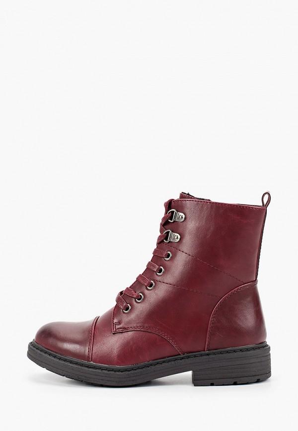 женские ботинки instreet, бордовые
