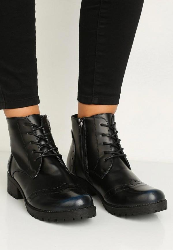 Фото 5 - женские ботинки и полуботинки Instreet черного цвета