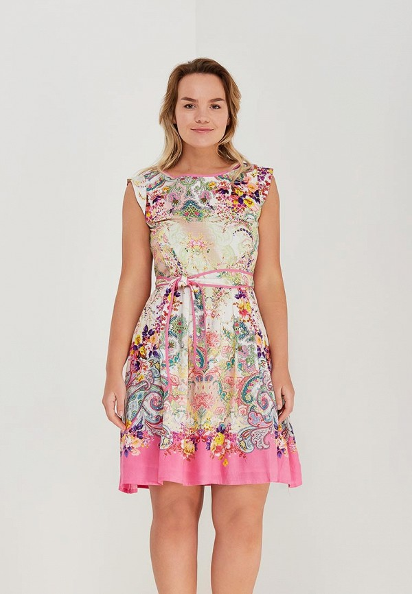 Купить Платье Indiano Natural, IN012EWAJGO8, разноцветный, Весна-лето 2018