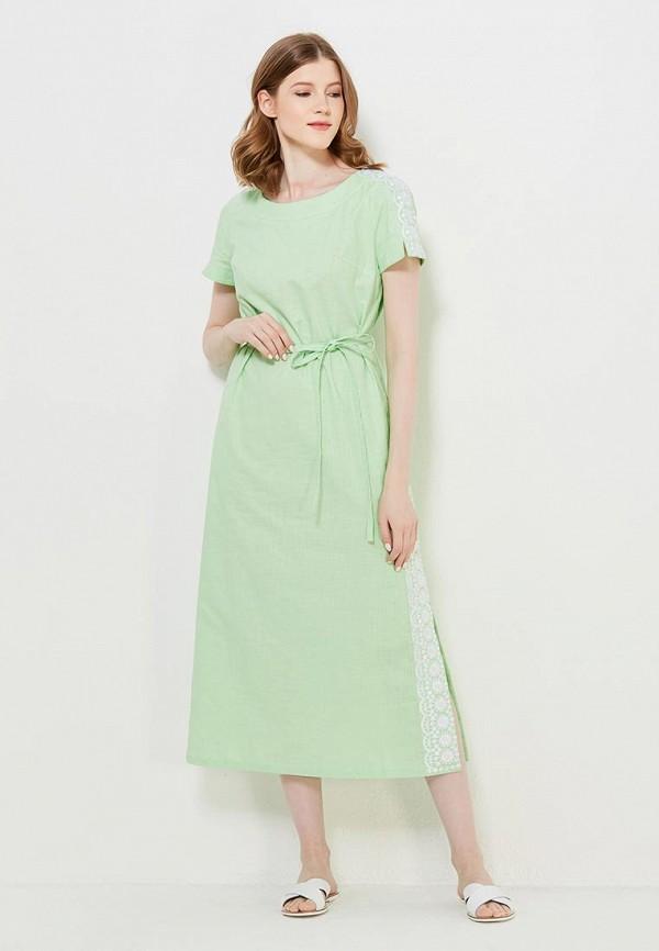 Купить Платье Indiano Natural, IN012EWANOS5, зеленый, Весна-лето 2018