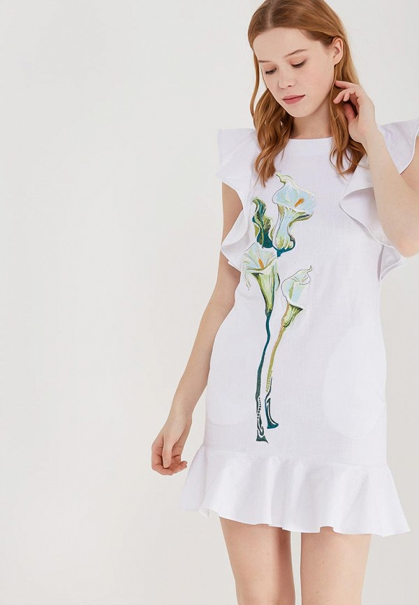 Купить Платье Indiano Natural, IN012EWANOU9, белый, Весна-лето 2018