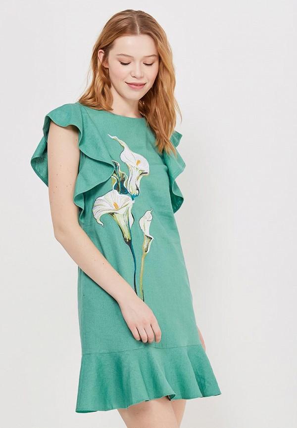 Купить Платье Indiano Natural, IN012EWANOV0, зеленый, Весна-лето 2018