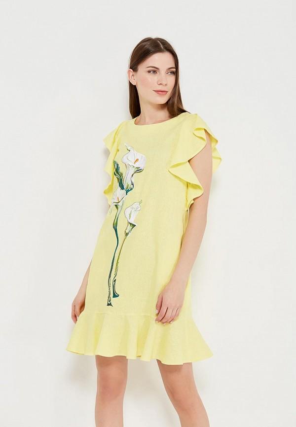 Купить Платье Indiano Natural, IN012EWANOV1, желтый, Весна-лето 2018