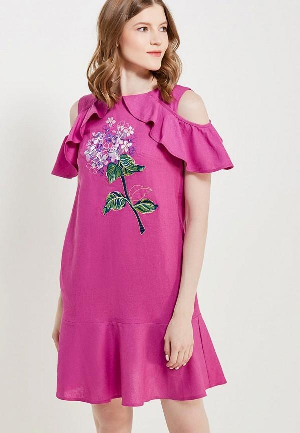Купить Платье Indiano Natural, IN012EWANOV2, фиолетовый, Весна-лето 2018