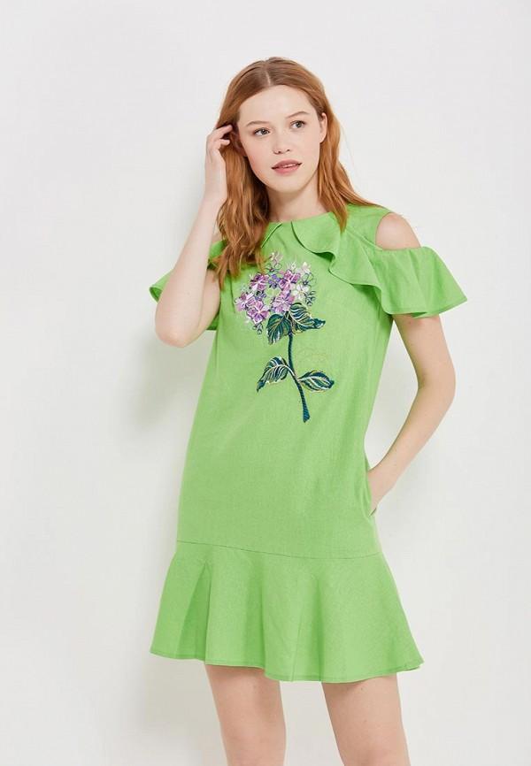 женское платье indiano natural, зеленое