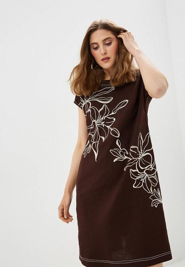 Купить Платье Indiano Natural, in012ewanov9, коричневый, Весна-лето 2018