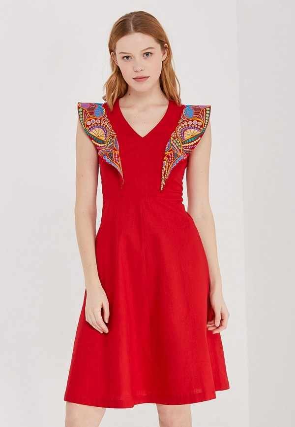 Купить Платье Indiano Natural, IN012EWANOW9, красный, Весна-лето 2018