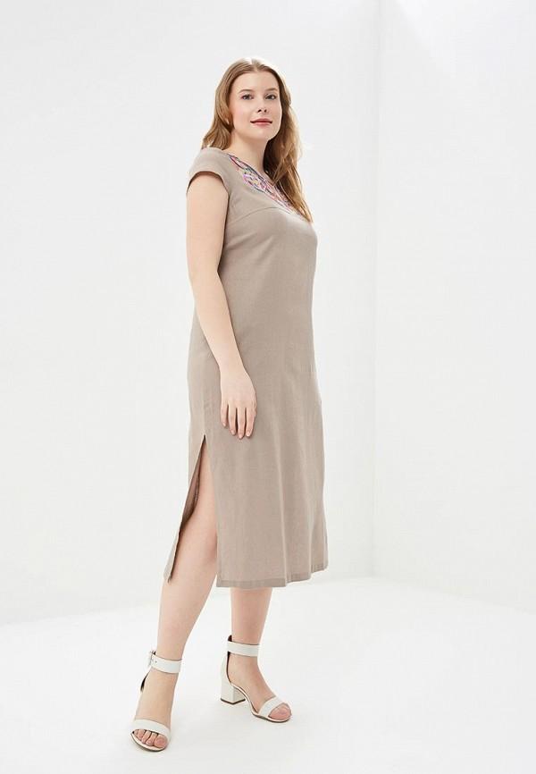 Купить Платье Indiano Natural, in012ewanox4, бежевый, Весна-лето 2018