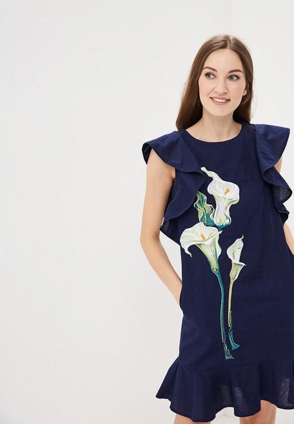 Купить Платье Indiano Natural, in012eweekn4, синий, Весна-лето 2019