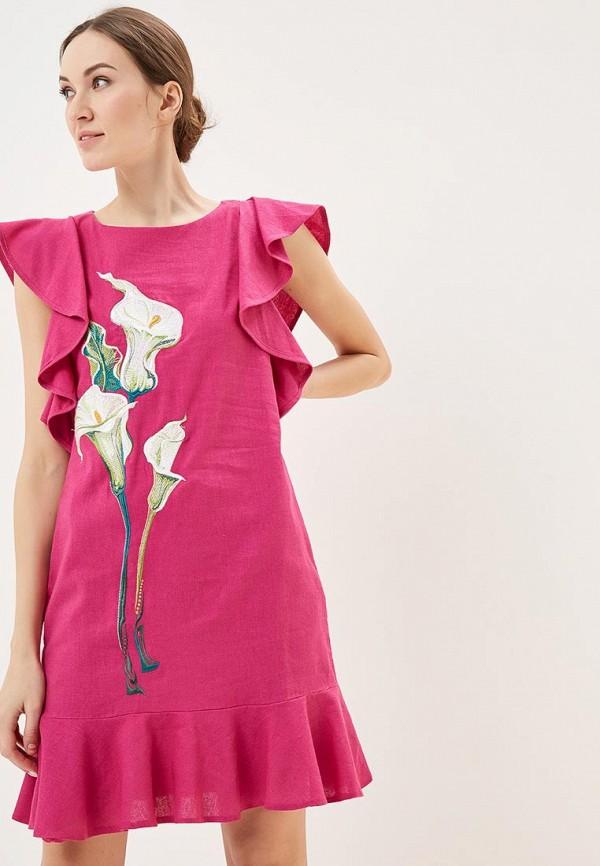 женское повседневные платье indiano natural, розовое