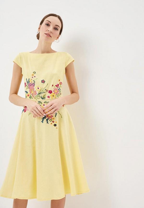 Купить Платье Indiano Natural, in012eweekn7, желтый, Весна-лето 2019