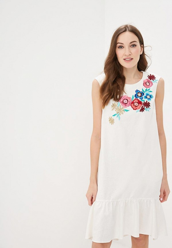 Купить Платье Indiano Natural, in012eweeko1, бежевый, Весна-лето 2019