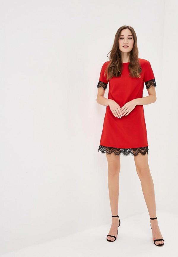 Фото 2 - женское платье Indiano Natural красного цвета