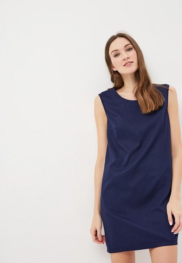 женское повседневные платье indiano natural, синее