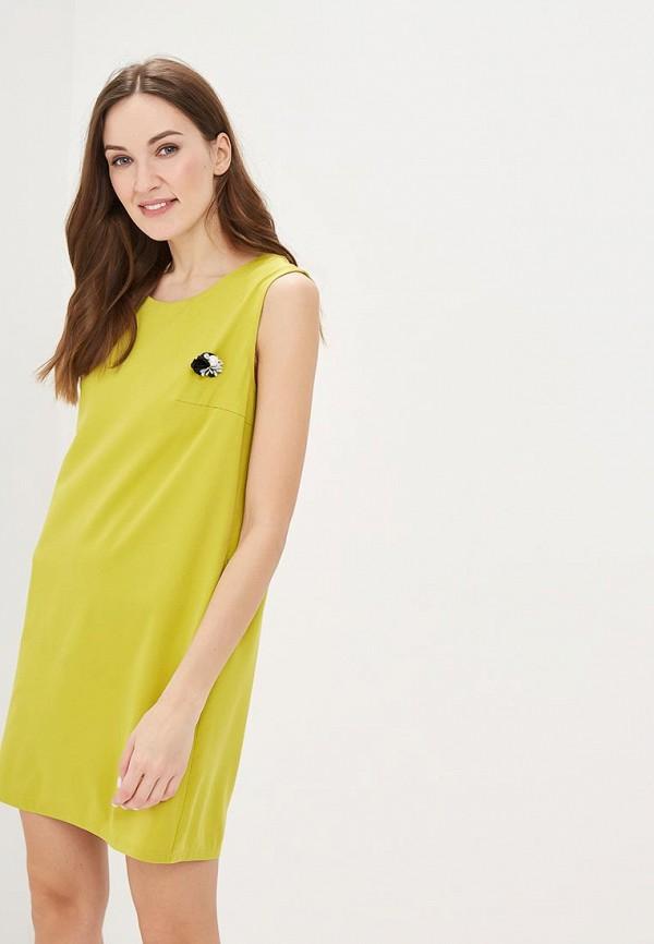 женское повседневные платье indiano natural, желтое