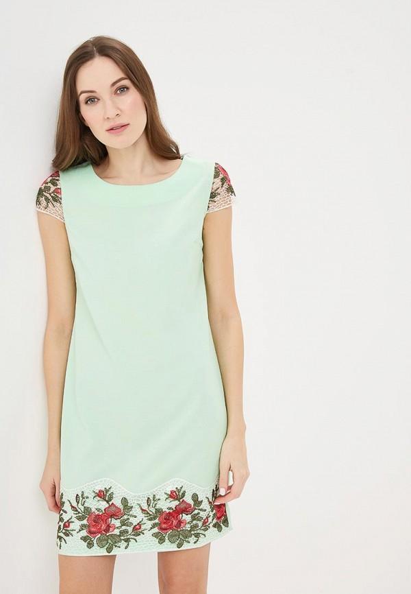 Купить Платье Indiano Natural, in012eweekv2, зеленый, Весна-лето 2019
