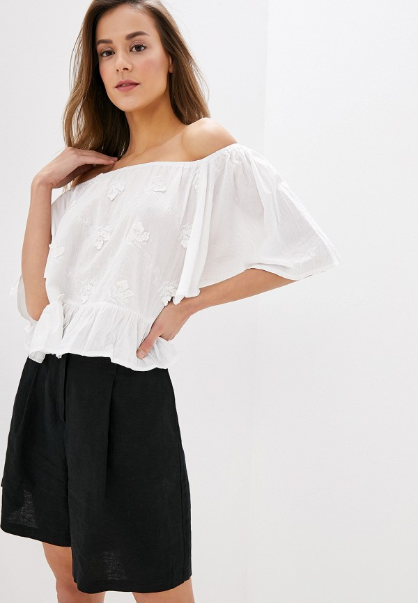 женская блузка indiano natural, белая