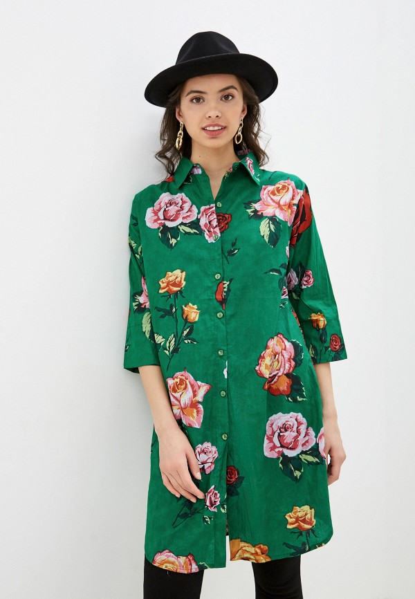 женская туника indiano natural, зеленая