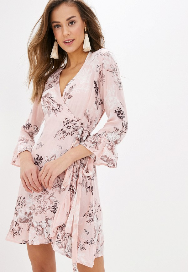 женское платье indiano natural, розовое