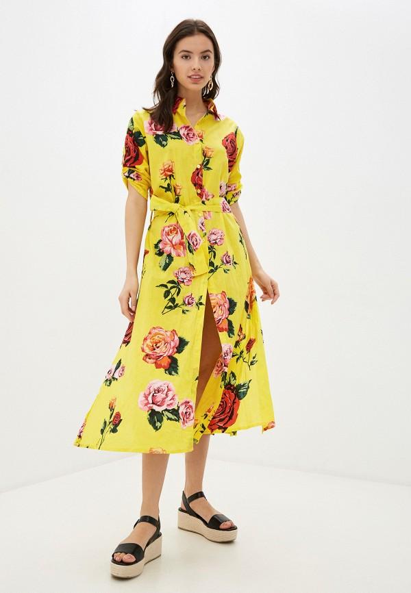 женское платье indiano natural, желтое