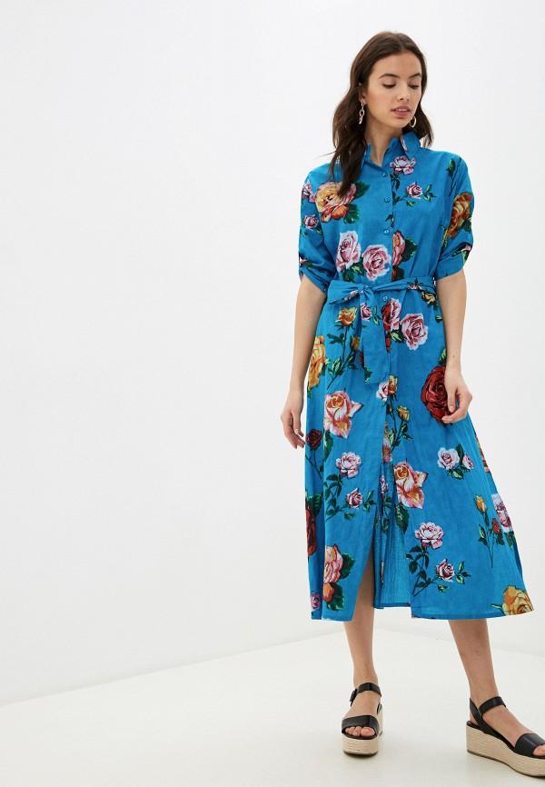 женское платье indiano natural, голубое