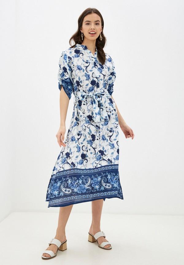 женское повседневные платье indiano natural, белое