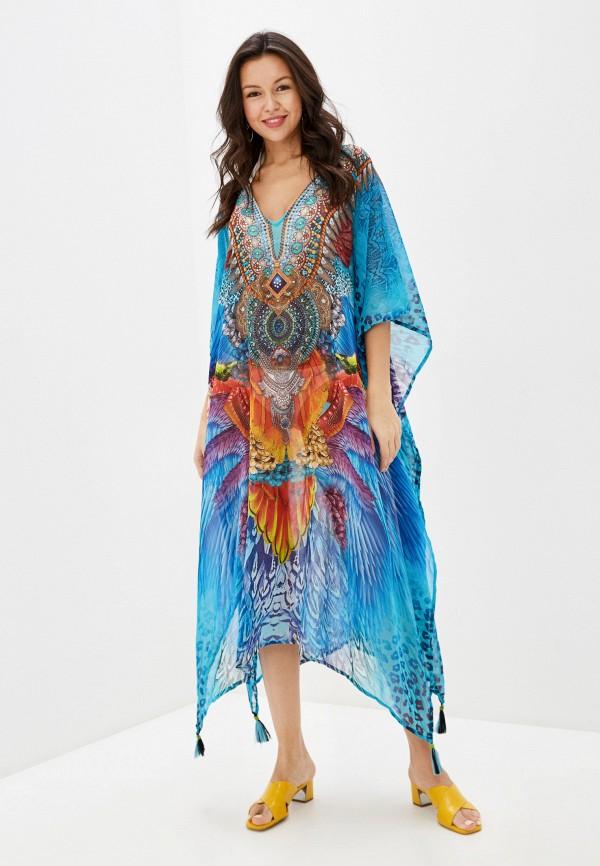 женское платье indiano natural, синее