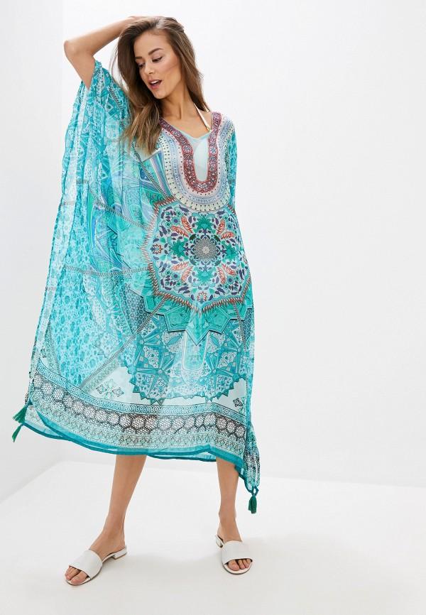 женское платье indiano natural, бирюзовое
