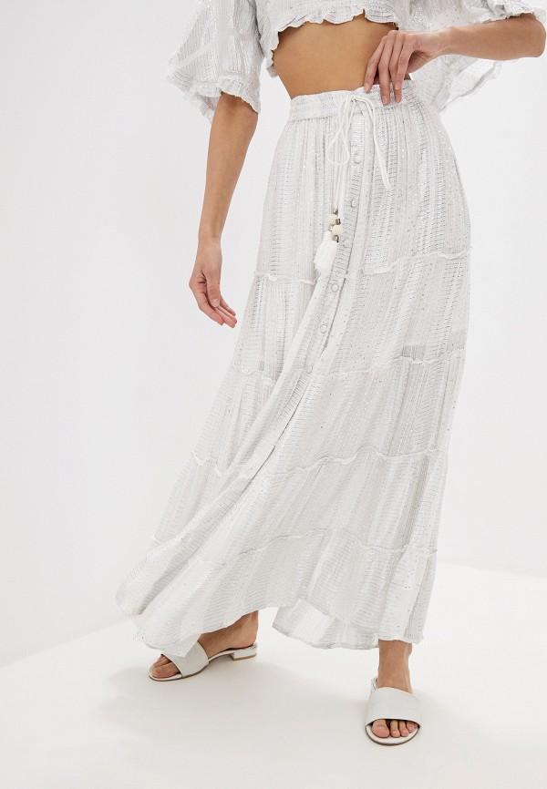 женская юбка indiano natural, белая