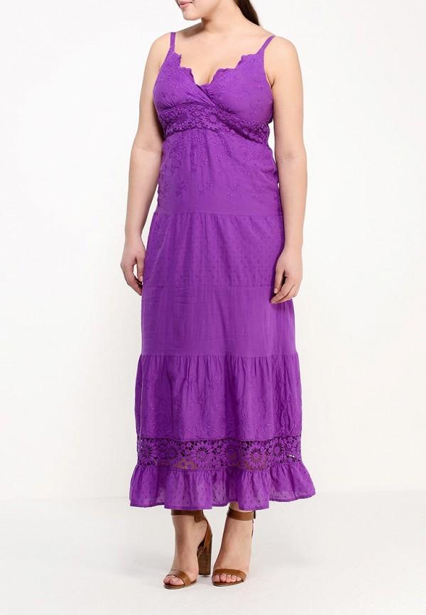 Фото 2 - женский сарафан Indiano Natural фиолетового цвета