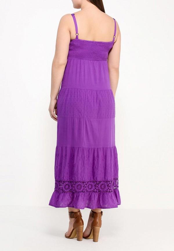 Фото 3 - женский сарафан Indiano Natural фиолетового цвета